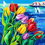 Tulips (id: 13331) falikép keretezve