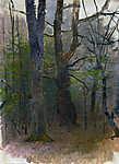 Mednyánszky László: Kora tavaszi erdő (színverzió 1) (id: 19931) tapéta