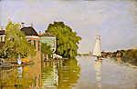 Claude Monet: Házak az Achterzaan folyónál (Színverzió 1.) (id: 20131) vászonkép óra