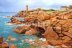 Pink Granite Coast. Brittany, Franciaország (id: 6131) falikép keretezve