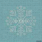 Absztrakt karácsonyi kártya Kötött hópehely türkiz / fehér (id: 7031) vászonkép