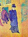 Henri de Toulouse Lautrec: Jane Avril távozása a Moulin Rouge-ból (id: 1132) vászonkép óra