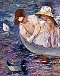 Mary Cassatt: Nyári időtöltés - színváltozat 1. (id: 12032)