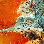 Namíbia, légifotó (id: 17032) vászonkép óra