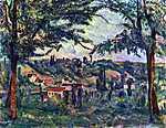 Paul Cézanne: Chateau Noir (id: 432) többrészes vászonkép