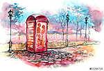 szerető pár a hívó dobozban (id: 5632) vászonkép óra