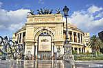 A Politeama Garibaldi színház Palermoban hdr (id: 10933) többrészes vászonkép