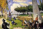 Paul Cézanne: Halászok (id: 12033) falikép keretezve