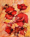 poppy flowers handmade oil painting on canvas (id: 13733) tapéta