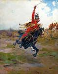 Lovas csatajelenet (színverzió 1) (id: 19633)