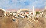 Szolnok, piac (id: 20033) vászonkép óra