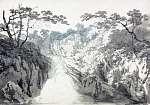 William Turner: Tájkép vízeséssel (színverzió 1) (id: 20533) tapéta