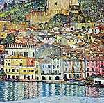 Gustav Klimt: Malcesine, a Garda-tónál (id: 2433)