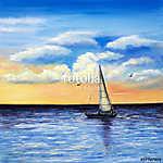 Vitorlás a tengeren festmény (id: 13234) poszter