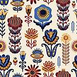 Folklór virágminta 7. (id: 18234) poszter