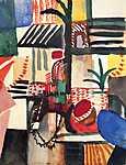 August Macke: Ember szamárral (id: 2434) vászonkép