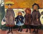 Edvard Munch: Négy kislány Åsgårdstran-ban (id: 3634) poszter