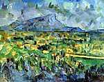 Paul Cézanne: A Sainte- Victoire hegy (id: 434)