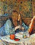Henri de Toulouse Lautrec: Madam Poupoule a mosdóban (id: 1135) vászonkép óra