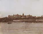 Királyi Palota és a Lánchíd utca házsora a Dunáról nézve (1905) (id: 19735) tapéta