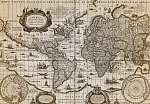 Világtérkép 1635 (vágott, szín 3)  (id: 21435) bögre