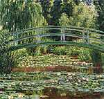 Claude Monet: A japán híd Givernyben (1899) (id: 3035) vászonkép óra