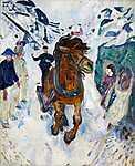 Edvard Munch: Galoppozó ló (id: 3635) vászonkép óra