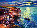 Az óceán és a sziklák (id: 4235) bögre