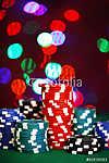 A póker zsetonjai csillogó háttéren (id: 6035) többrészes vászonkép
