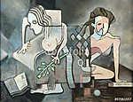A tanulás kora (Picasso Stílus) (id: 7735) falikép keretezve