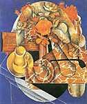 Juan Gris: Csendélet levelekkel (id: 1336) vászonkép óra