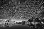 Powell-tó (Lake Powell, USA) csillagfényes éjszaka (id: 14336) tapéta