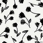 Hand Drawn Floral Seamless Pattern (id: 15036) poszter