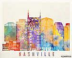 Nashville landmarks watercolor poster (id: 15236) poszter