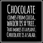 Vicces, inspiráló, VECTOR idézet a csokoládéról. (id: 6636) vászonkép óra
