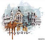 Spanyolország Madrid (id: 10337) vászonkép óra