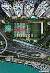Hong Kong felülről (légifotó) (id: 12337) többrészes vászonkép