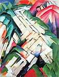 Franz Marc: Tájkép hegyekkel (id: 1337) poszter