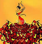 image of flamenco dancer girl (id: 13737) falikép keretezve