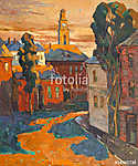 Kind on city, oil on a canvas (id: 16437) poszter
