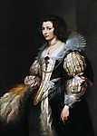 Anthony van Dyck : Maria de Tassis portréja (id: 19537) vászonkép óra