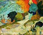 Paul Gauguin: Mosónő Arles-ban - Színverzió 1. (id: 3937) vászonkép