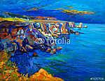 Az óceán és a sziklák (id: 4237) vászonkép