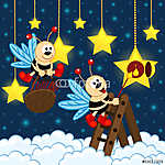 Szentjánosbogarak meggyújtják a csillagokat (id: 4537) tapéta