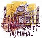 Taj Mahal (id: 10338) vászonkép óra