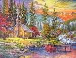 A naplemente a tónál (id: 10638) falikép keretezve