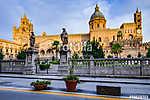 Palermo város Szicíliában, Olaszország (id: 10938) vászonkép óra
