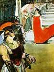 Henri de Toulouse Lautrec: Messalina a lépcsőn (id: 1138) vászonkép