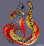 figure of flamenco dancer (id: 13738) tapéta
