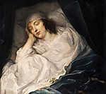 Anthony van Dyck : Lady Digby a halálos ágyán (id: 19538) vászonkép